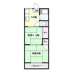 東京都板橋区高島平1丁目の賃貸アパートの間取り