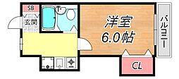 メゾン武庫之荘WEST[4階]の間取り
