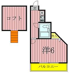 千葉県柏市あけぼの2の賃貸アパートの間取り