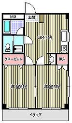 アユミビル[601号室]の間取り