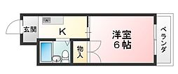 リバーサイドマンション[4階]の間取り