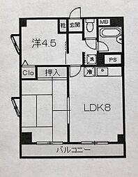ポートサイド戸部[603号室]の間取り