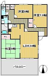 クレール石神井公園[1階]の間取り