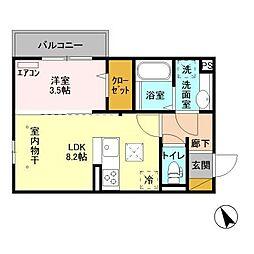 (仮)D-room柏たなかPJB12[3階]の間取り