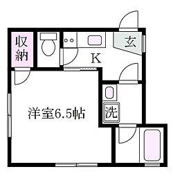 東京都武蔵野市吉祥寺南町2丁目の賃貸アパートの間取り