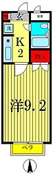 セントエルモ新松戸[4階]の間取り