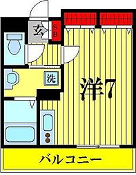 千葉県松戸市新松戸2丁目の賃貸マンションの間取り