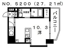 OAK弥栄・夕陽ケ丘[1階]の間取り