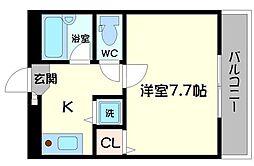 TAIHOレジデンス萱島[1階]の間取り
