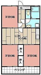 ハイツシーサイドNOⅠ[105号室]の間取り