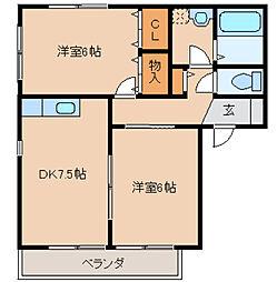 TSコートII[2階]の間取り