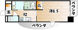 セトルイン鳳[4階]の間取り