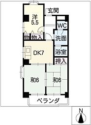 大宮セントラルマンション[5階]の間取り