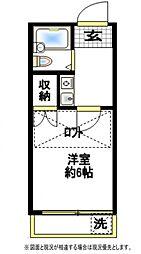 タウンコート西川口[1階]の間取り