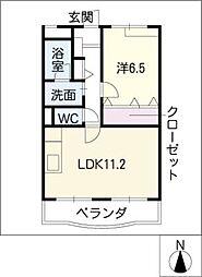 パークサイド21[2階]の間取り