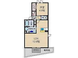 ジョリシャンブル[1階]の間取り