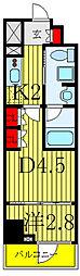 東京メトロ南北線 志茂駅 徒歩1分の賃貸マンション 3階1DKの間取り