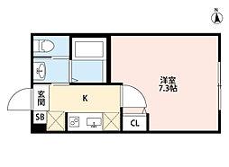 ルミエール・リッシュ松江[301号室]の間取り