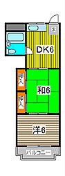 富士見ビル[402号室]の間取り