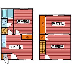 [テラスハウス] 北海道札幌市豊平区福住二条4丁目 の賃貸【北海道 / 札幌市豊平区】の間取り