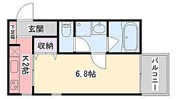 Dear Nishinomiya Station Front[403号室]の間取り