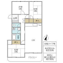松代ハウス A棟[303号室号室]の間取り