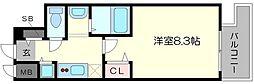 ララプレイス大阪 WestPrime[14階]の間取り