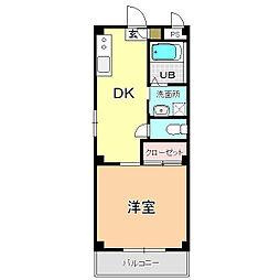 アイ・TAKADA[203号室]の間取り