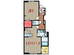 エピナールVI[105号室]の間取り