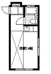セゾンタカ2階Fの間取り画像