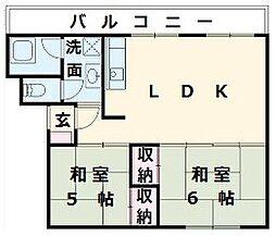 レデント和泉[5階]の間取り