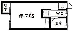 テックハウジング5[102号室]の間取り