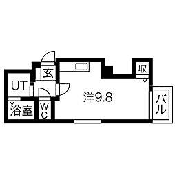 クロスティアS6W8[5階]の間取り