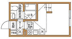 ハーミットクラブハウス京急弘明寺[202号室]の間取り