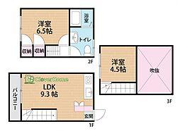 [タウンハウス] 神奈川県相模原市中央区弥栄2丁目 の賃貸【/】の間取り