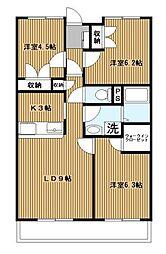 グランドヒルズ横浜[102号室]の間取り