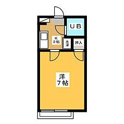 昭栄マンションB棟[2階]の間取り