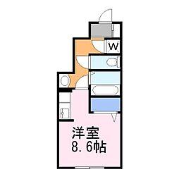 メゾンみお[1階]の間取り