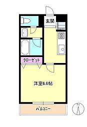 東京都八王子市千人町1丁目の賃貸アパートの間取り