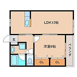 静岡県静岡市清水区折戸2丁目の賃貸マンションの間取り