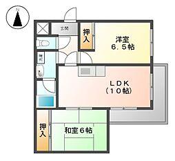 司マンション[3階]の間取り