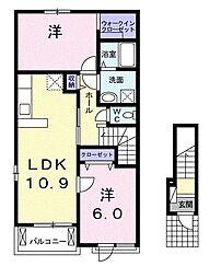 メゾン ドゥ メルチェ[2階]の間取り