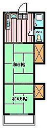 オレンジハウス1[1階]の間取り
