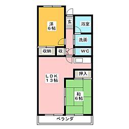 メゾン信和[4階]の間取り