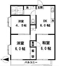 茅ヶ崎ドミール21[108号室]の間取り
