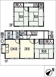 [一戸建] 岐阜県関市向山町4丁目 の賃貸【/】の間取り