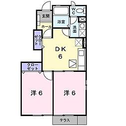 ホ−スブリッジ[1階]の間取り