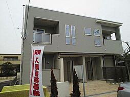 愛知県北名古屋市六ツ師中屋敷の賃貸アパートの外観
