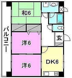緑台第1マンション[303 号室号室]の間取り