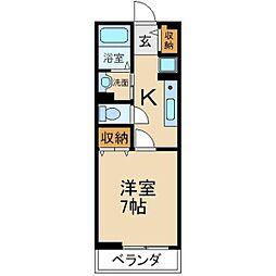 大阪府交野市星田1丁目の賃貸マンションの間取り